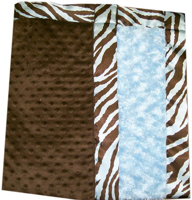 Blue Zebra Banded Blanket