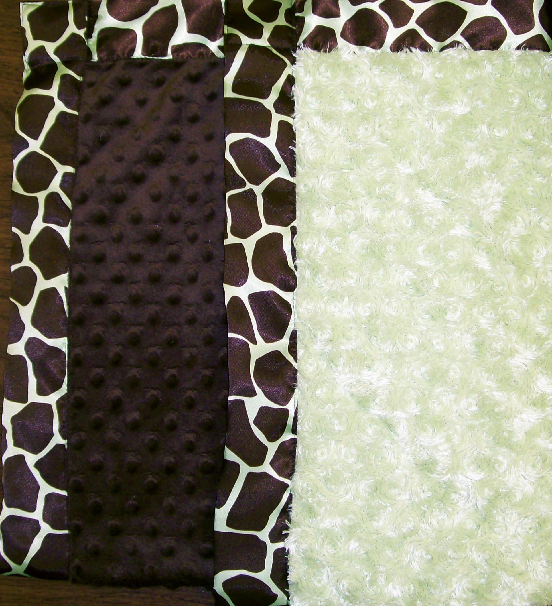 Custom Printed Satin Banded  Minky Blanket