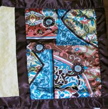 Deco Print Satin Banded Silky
