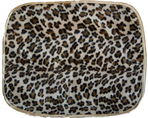 Rounded Animal Print Travel Silky