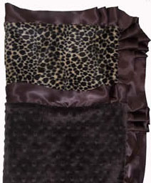Coco MInky Dots and Leopard w/ Ruffle Blanket