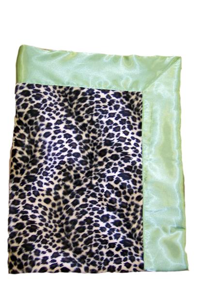 Classic Leopard Fur &  Satin Blanket