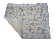 Double Sided Fleur Blue Banded Travel Silky
