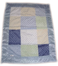 Minky Boys  Patch Blanket