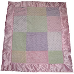 Girls Minky Patch Silky Blanket
