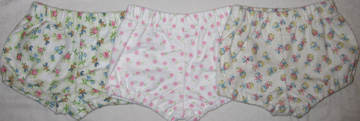 Assorted Four  Girls Diaper covers 9.99