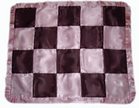 Satin Custom Patched Ruffle  Blanket