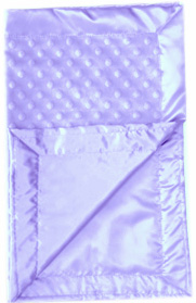 Lilac Minky Dots Classic Travel Silky