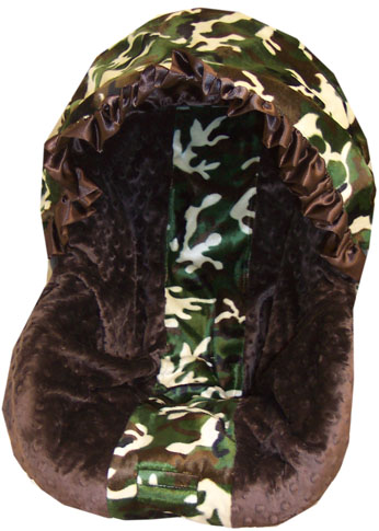 Cammo & Minky  Car Seat Cover