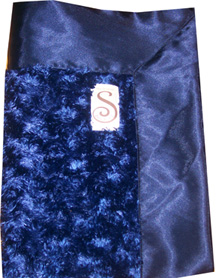 Navy OR RED Fuzzy Classic Silky Blanket