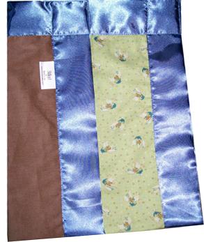 Sage Bronco Banded Blanket