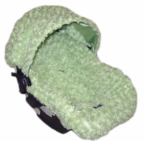 Custom Fuzzy Infant car seat cover