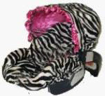 Custom Zebra Infant car seat cover
