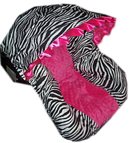 Custom Minky and Animal Print Infant Car Seat